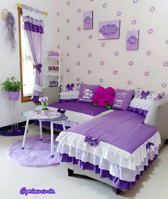 ruang tamu kecil tapi nyaman untuk keluarga ~ hello shabby