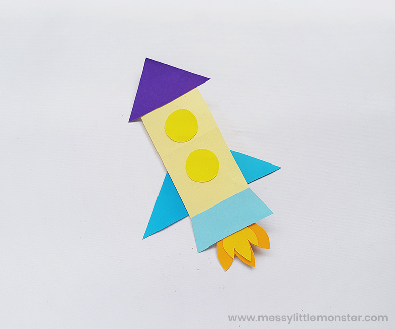 handmade fathers day card for kids - rocket craft
