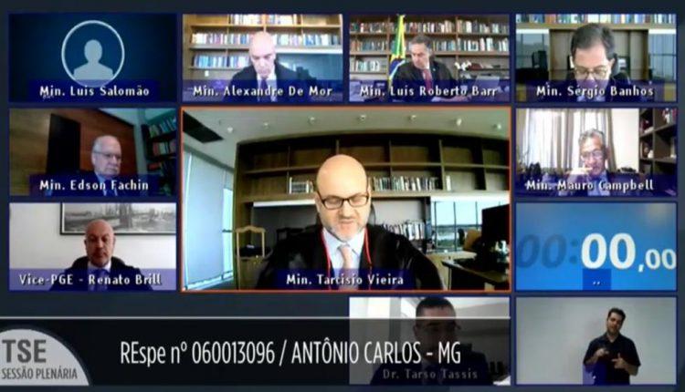 Minas Gerais: Cidade de Antônio Carlos terá novas eleições para prefeito  O Tribunal Superior Eleitoral (TSE) julgou, na manhã desta quinta-feira (04), a impugnação do registro de candidatura envolvendo as eleições majoritárias de 2020 na cidade de Antônio Carlos.