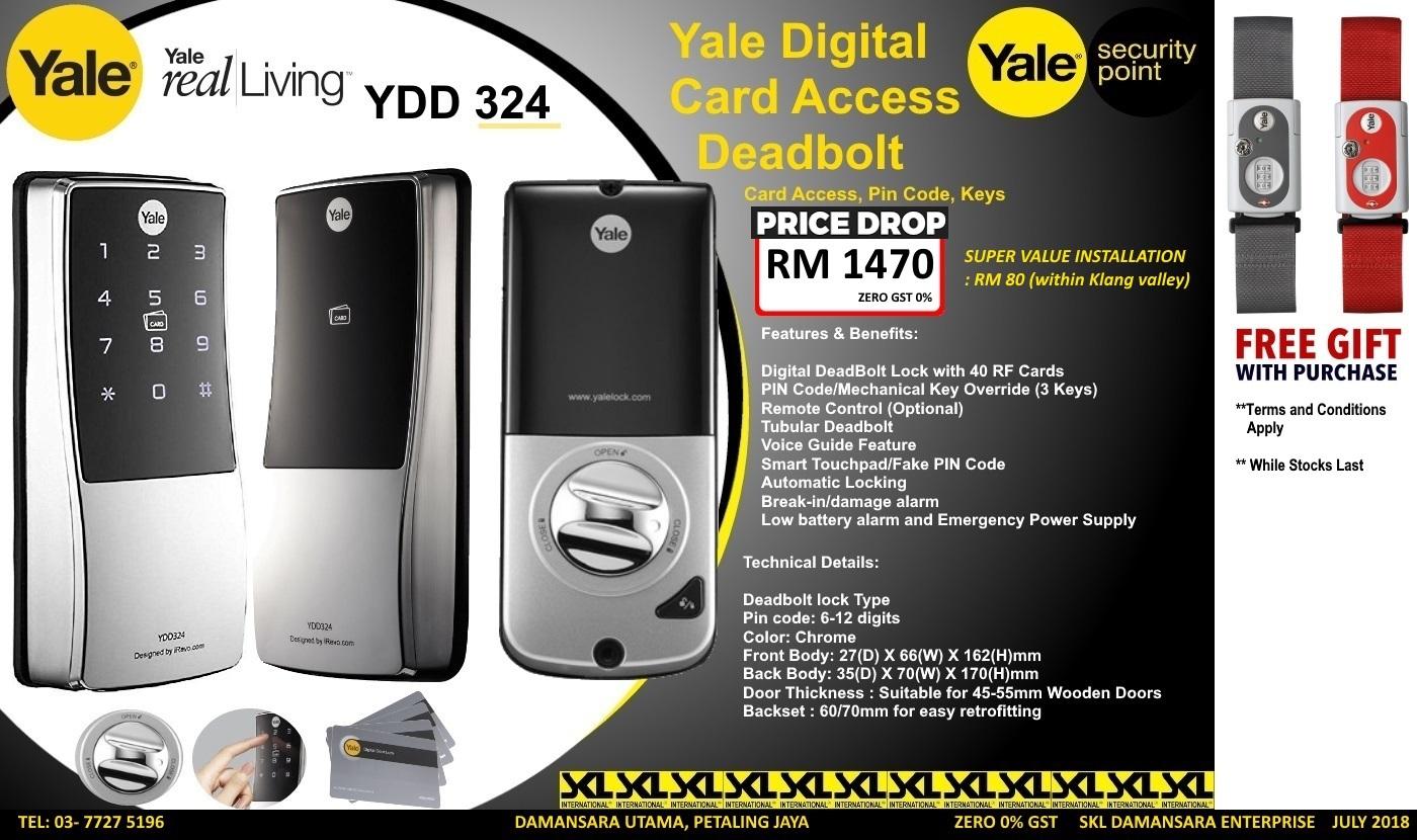 SKL DIY Uptown: Yale Digital Rim Lock YDD 324 promotion now