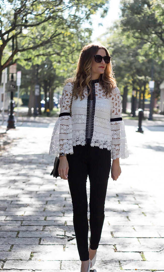 Crochet Top with Bell Sleeves