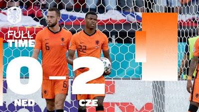 Belanda di Pencundangi Republik Ceko 2-0 di Babak 16 Besar EURO 2020