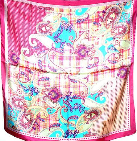 Hot Pink Silky Satin Scarves