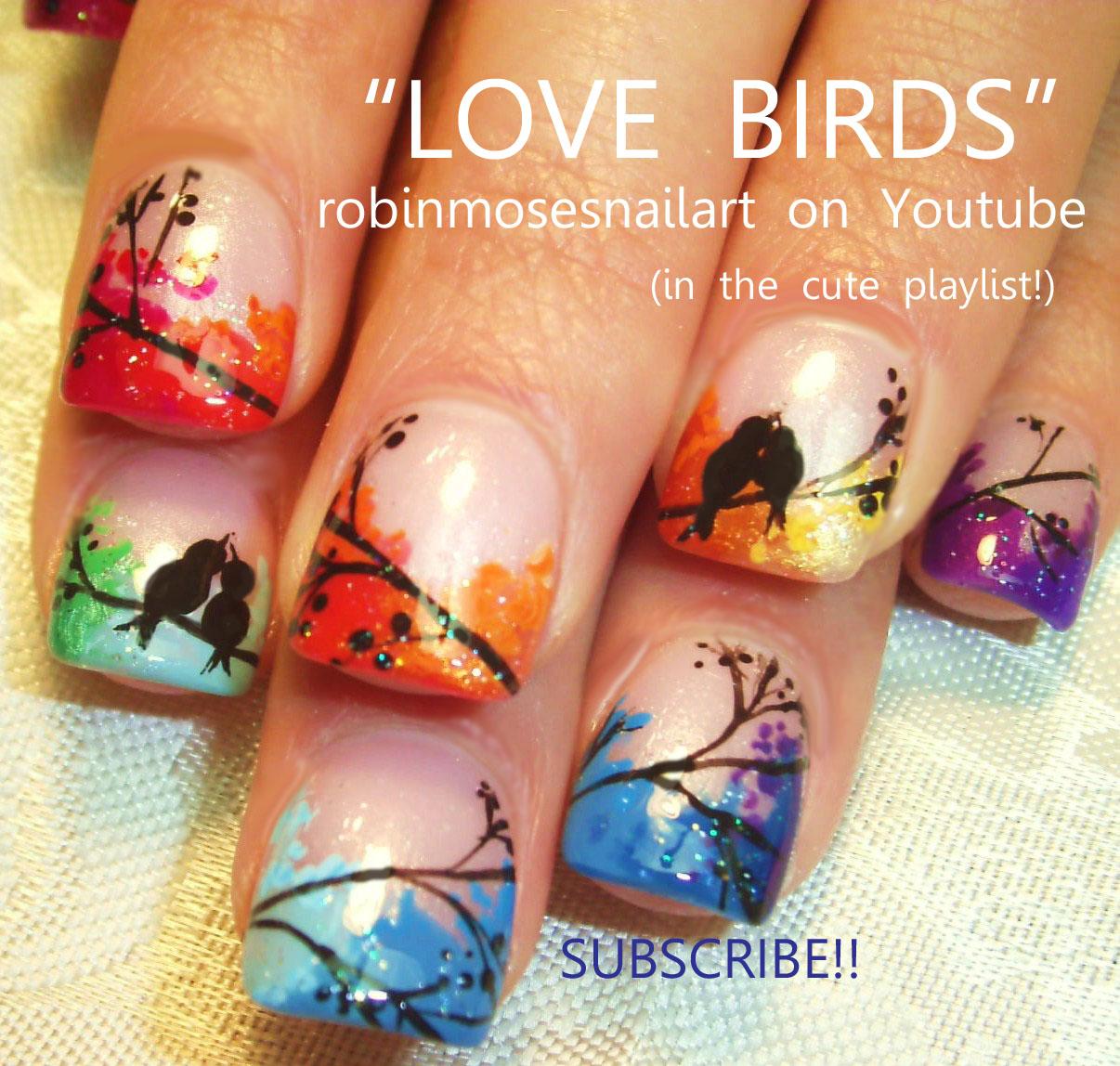 Robin Moses Nail Art Love Birds Wedding Marble Nails