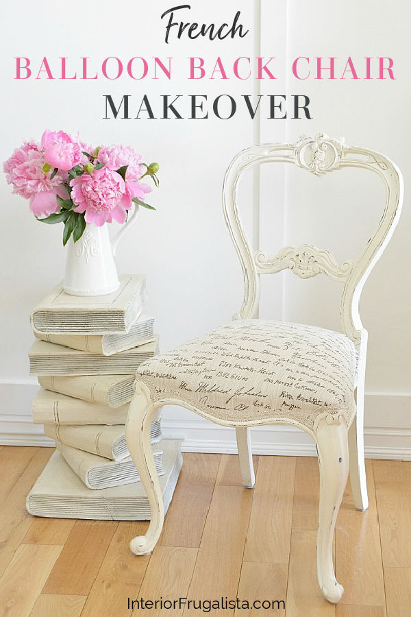 French Balloon Back Chair Makeover