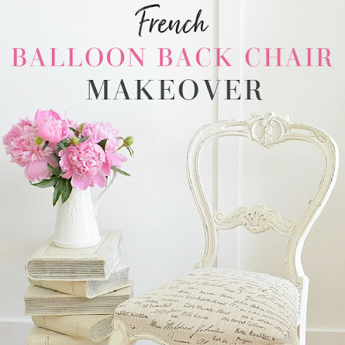 Antique Balloon Back Chair Makeover