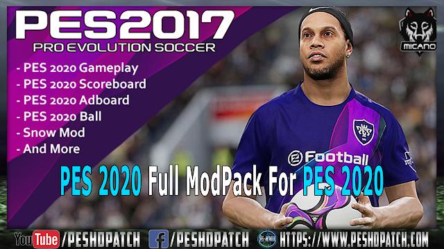 PES 2020 Full ModPack For PES 2017 -  باك مودات كامل لتحويل بيس 2017 الى بيس 2020