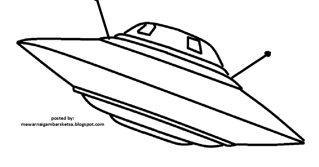 mewarnai gambar mewarnai gambar pesawat ufo
