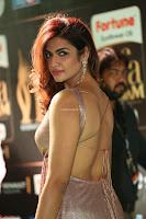 Telugu Actress Aarthi in Deep Neck Backless Golden Gown at IIFA Utsavam Awards 2017 Exclusive 16.JPG