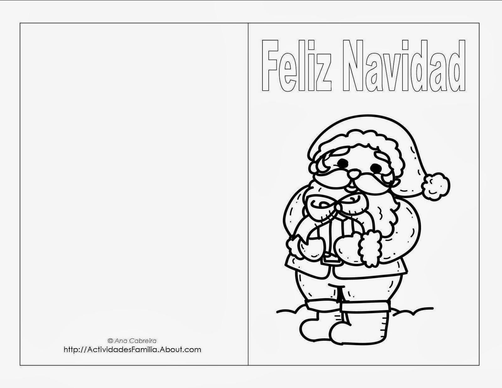 Tarjetas De Navidad Para Colorear Fotos Bonitas Para Enamorar
