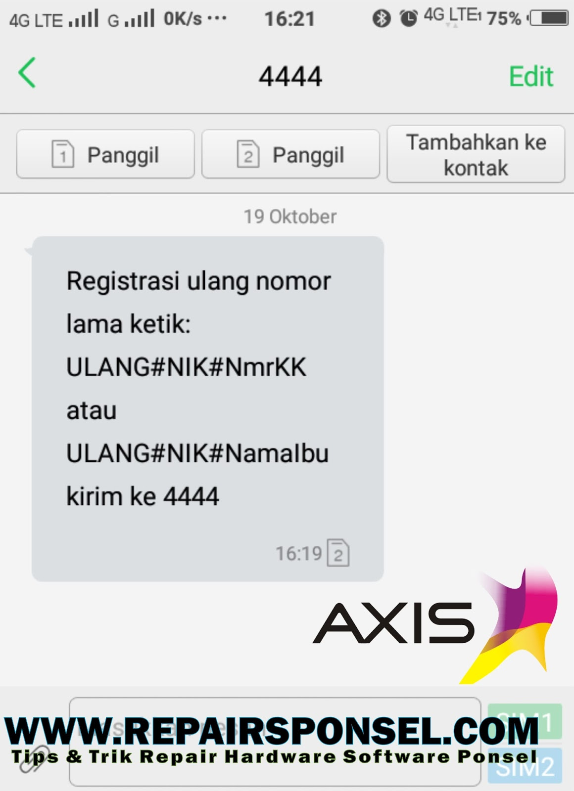 Cara Registrasi Ulang Kartu Axis Sesuai KTP dan KK  Repairs Ponsel