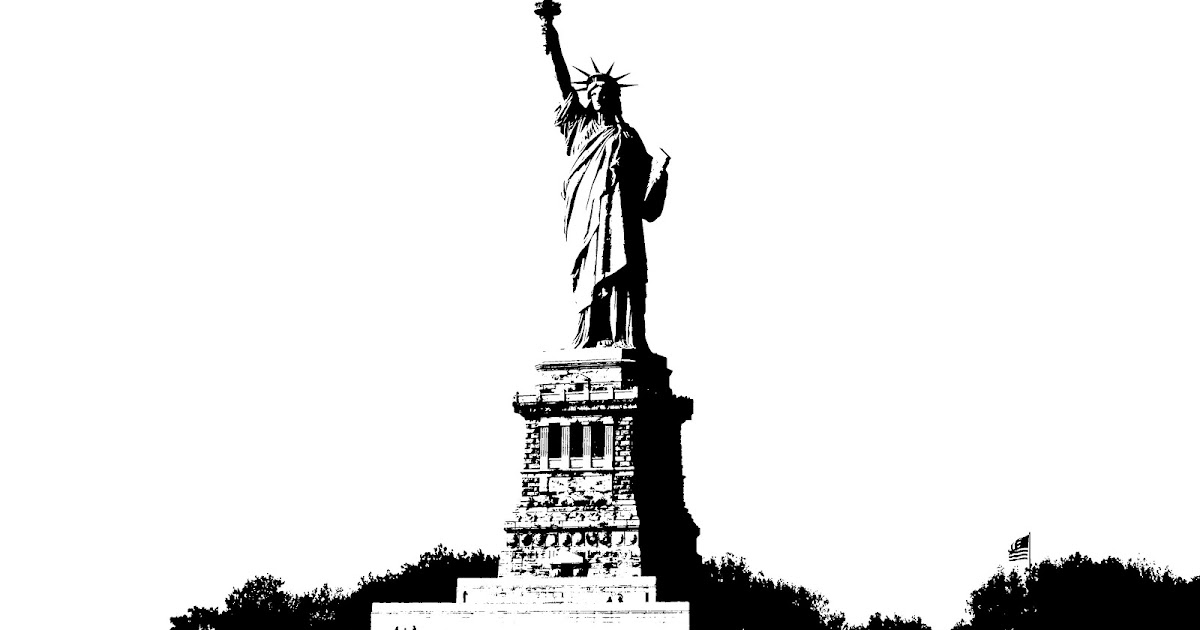Noah's Artwork: The Stencil of the Beautiful Statue of Liberty