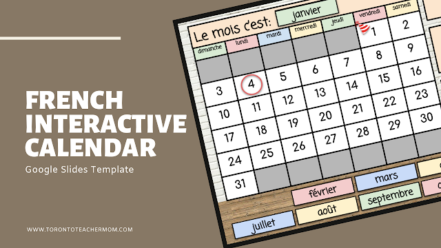 Interactive French Calendar for January 2021