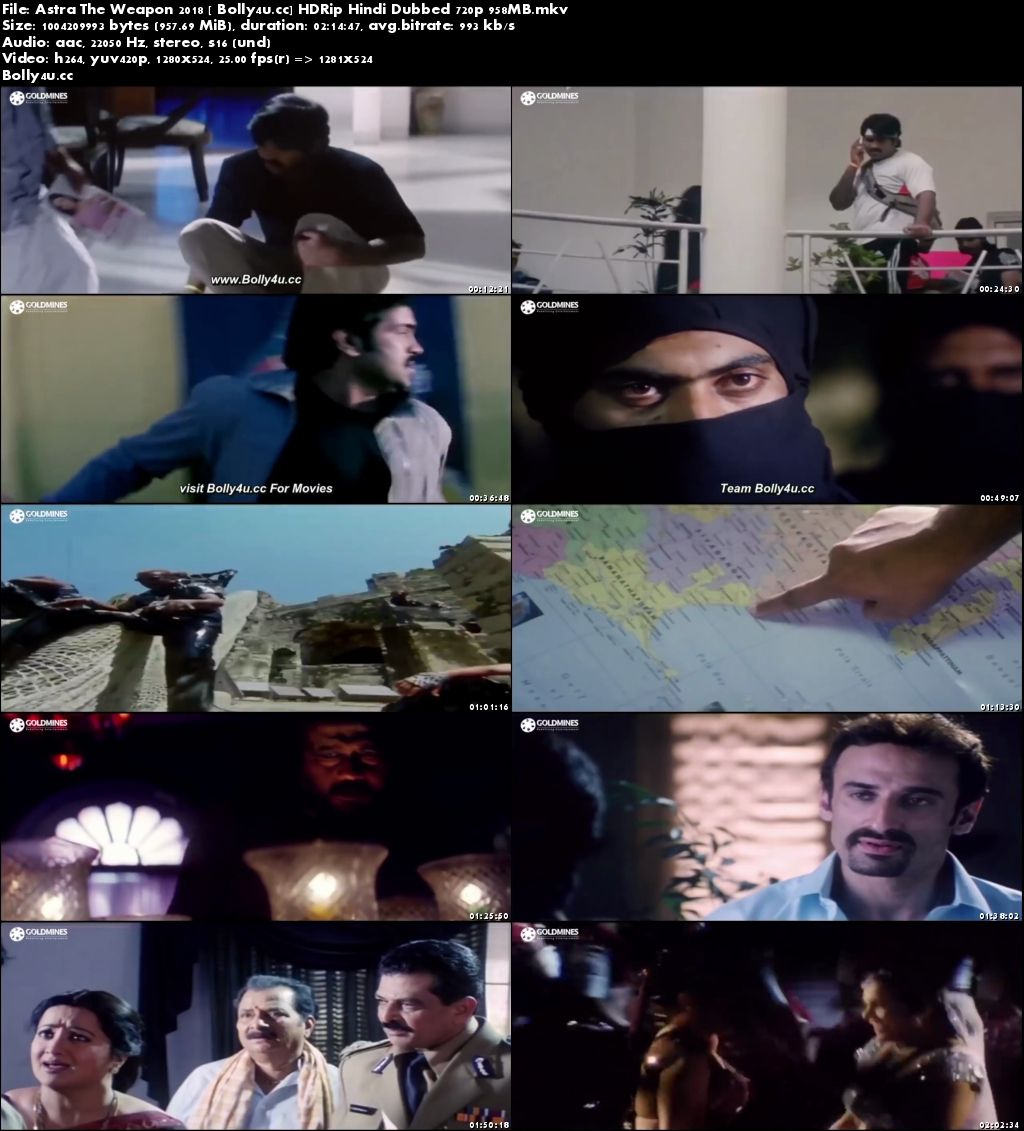 Astra The Weapon 2018 HDRip 350MB Hindi Dubbed 480p Download