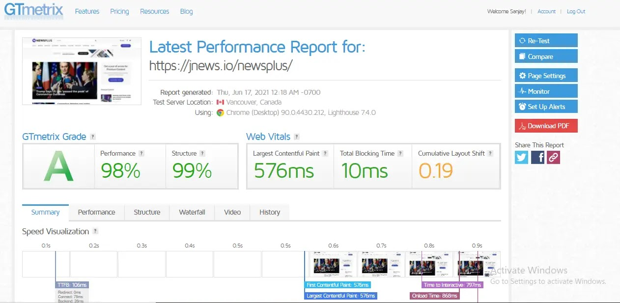 jnews-wordpress-theme-web-speed-test