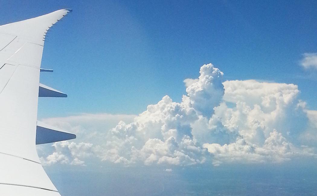 vue depuis l'avion: nuages