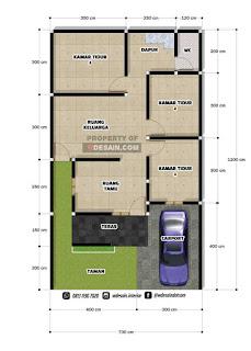 desain rumah minimalis 7x12 3 kamar tidur 1 lantai