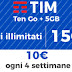 Fantastica promozione TIM Ten Go +: 15 GIGA e minuti illimitati !