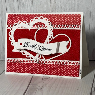Valentine Card with hearts using the Stampin' Up! Lots of Heart Bundle