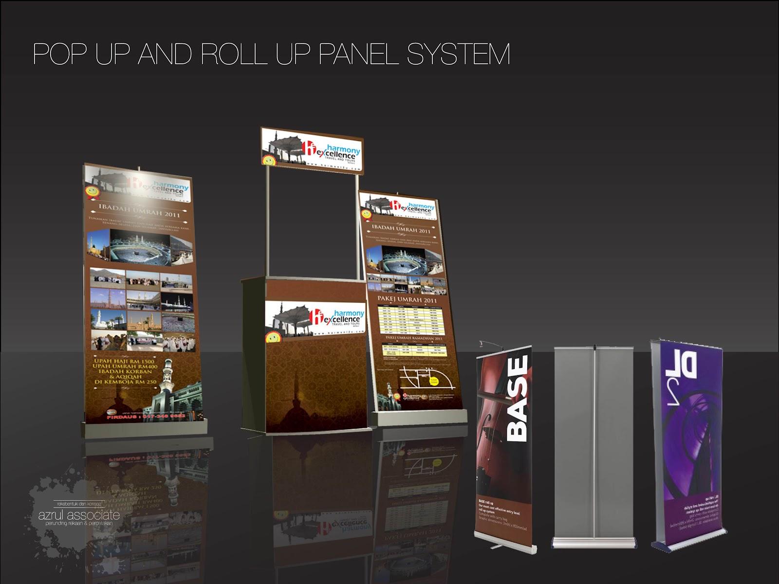 coolkad by azrul associates pop up and roll up panel system pameran produk dan perkhidmatan. Black Bedroom Furniture Sets. Home Design Ideas