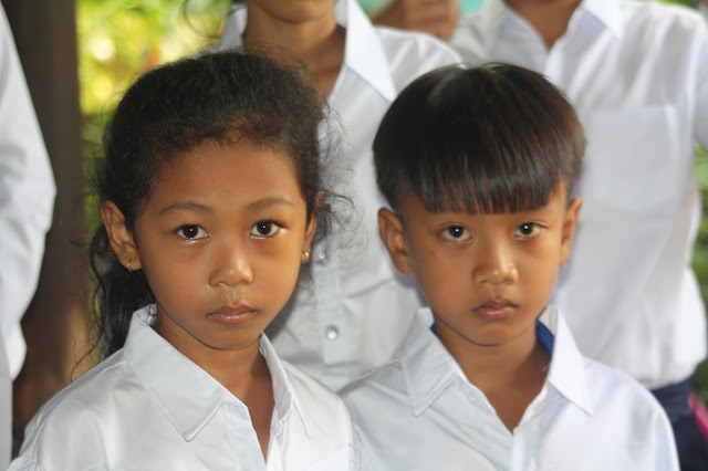 Children of Kampong Chamlong in Kandal Province
