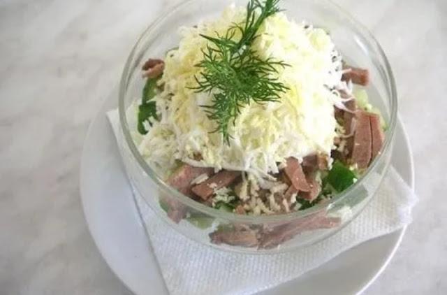 Салат с сердцем и грибами картинка