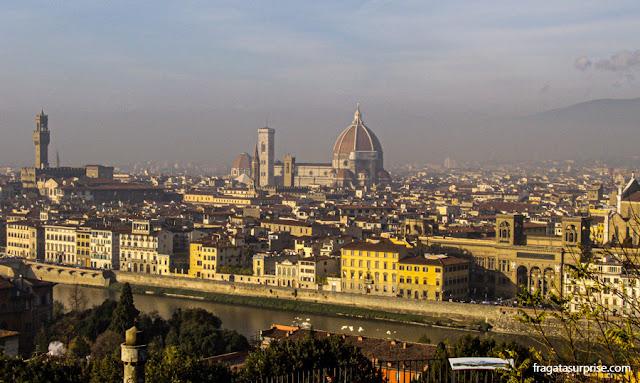 Florença: pôr do sol na Piazzale Michelangelo