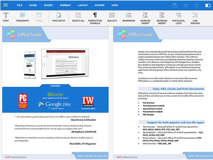 تحميل برنامج OfficeSuite Premium Edition 4.10.30304.0 النسخة الكاملة