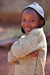 The smile of an African child captured in a photo