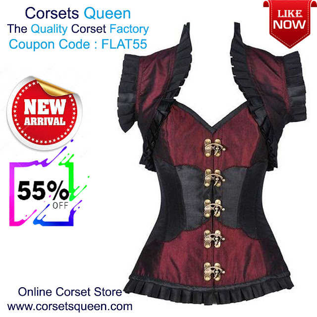 2863fc87e52 Steampunk Corset with Jacket. New Arrival Corset Sale - Flat 55% Off
