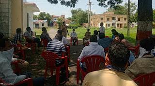 पुलिस ने आयोजित की शांति समति की बैठक