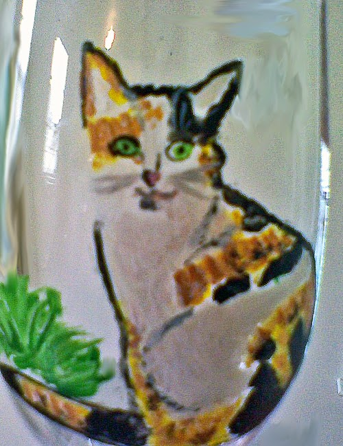 cat wine glass