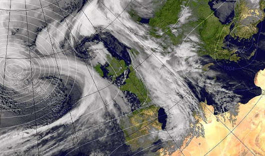 "After one of the warmest winter periods ever the fourth named storm of this winter ""Doris"" set to batter the UK with near 100 mph winds and more flooding"
