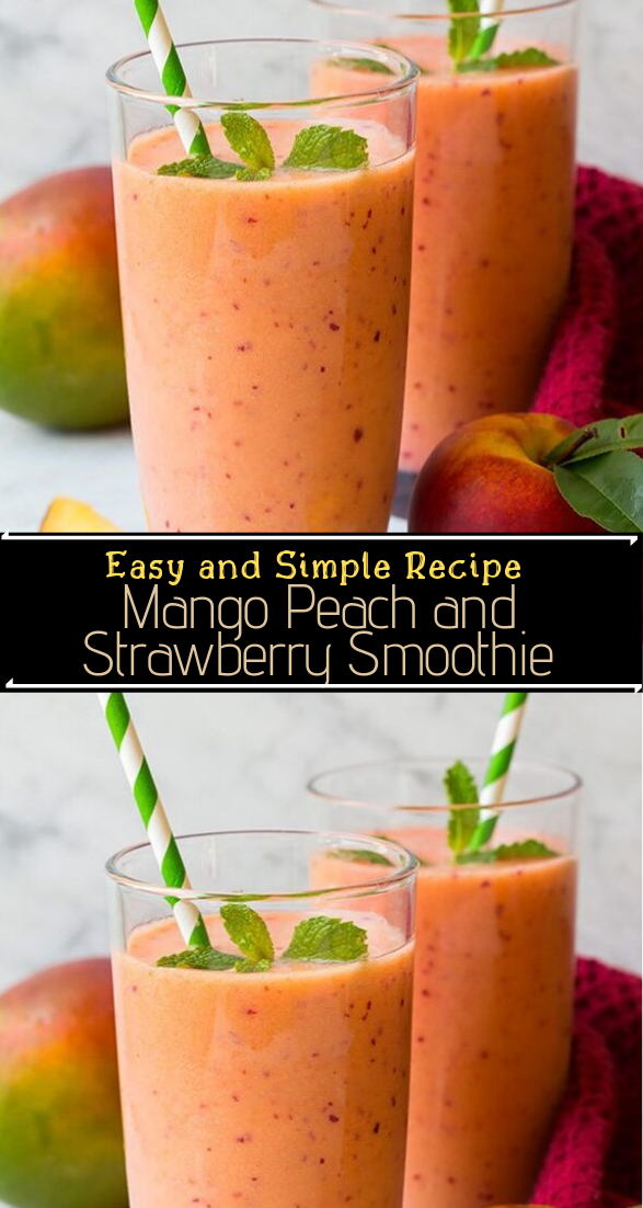 Mango Peach and Strawberry Smoothie #healthyfood #dietketo #breakfast #food