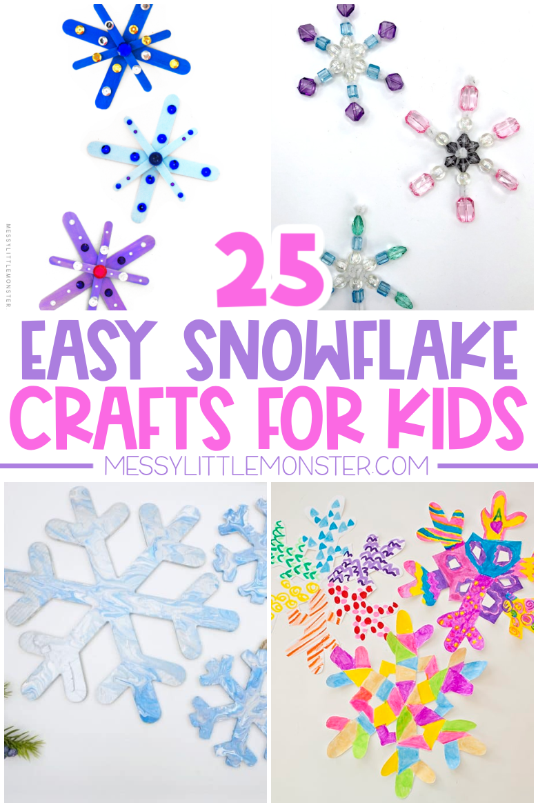 snowflake crafts for preschoolers