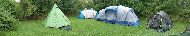 Tents at Camp, before the decorations went up!