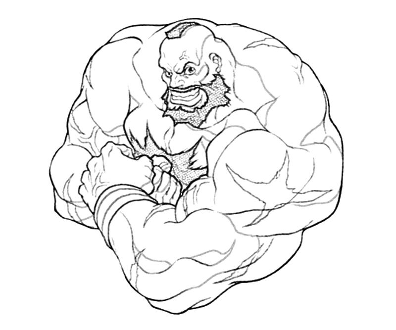 street fighter coloring pages - photo#16