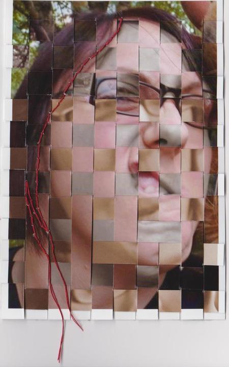 Whoopidooings: Carmen Wing - Woven Postcard