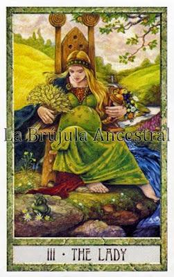 La Emperatriz, Tarot de los Druidas