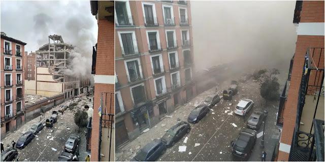 Forte explosion dans le centre de Madrid