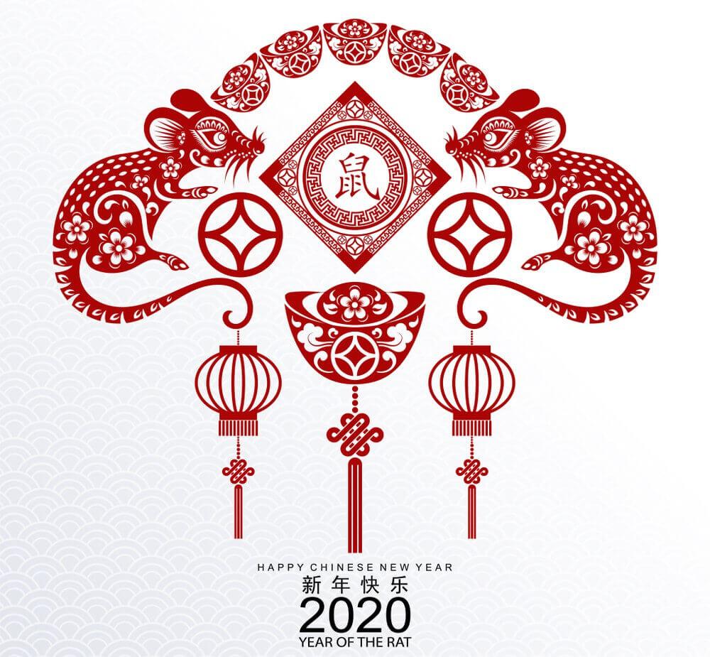 2020, Happy, Chinese New Year