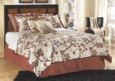Queen bed with headboard