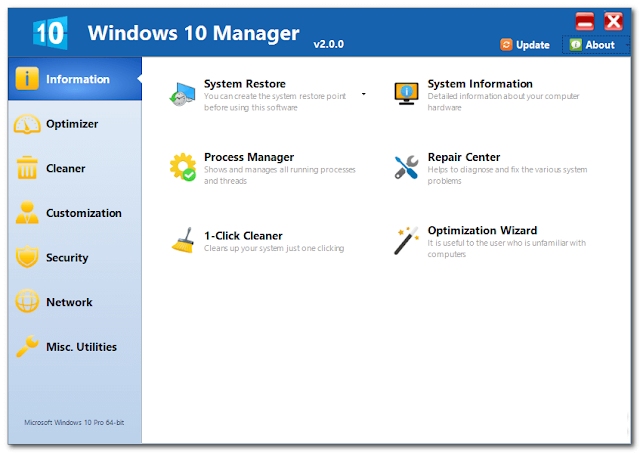 Windows 10 Manager 2.0.0
