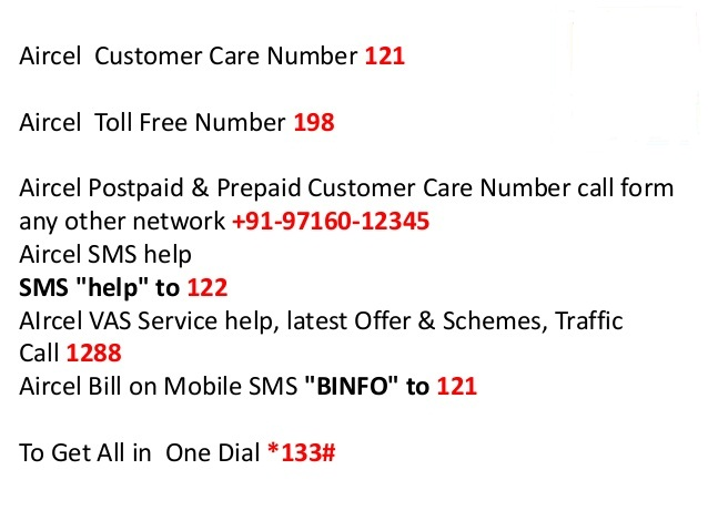 Aircel 2bcustomer 2bcare 2bnumber