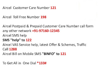 Aircel Customer Care Contact Number
