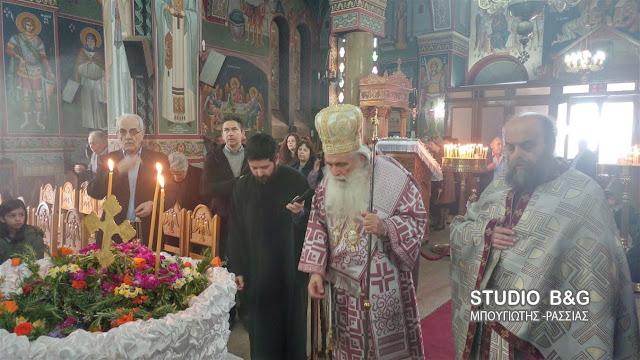 Στην Αγία Τριάδα Μιδέας ο Μητροπολίτης Αργολίδος τέλεσε την Θεία Λειτουργία της Κυριακής της Σταυροπροσκυνήσεως