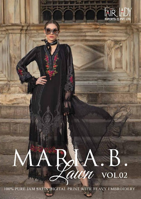 Fair Lady maria b lawn vol 2 pakistani Suits wholesaler