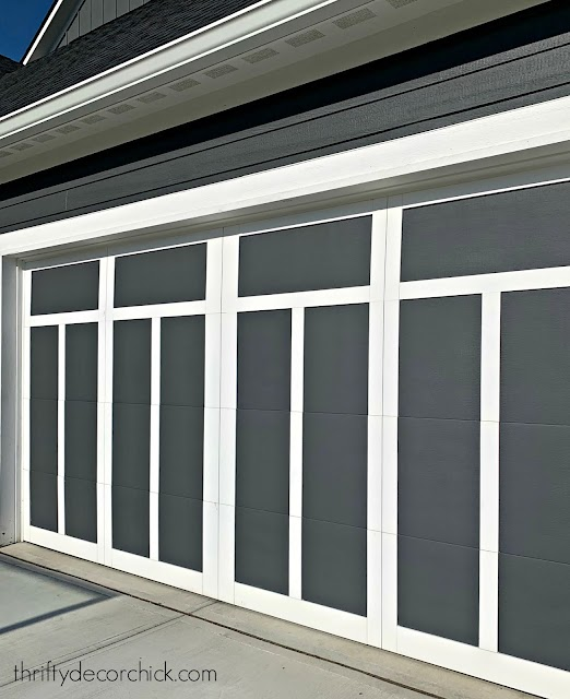 Two tone Craftsman garage door