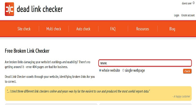 Dead Link Checker tool for broken links, how to check dead link