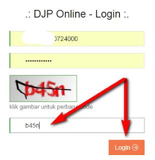 cara login SPT online DJP online  https://djponline.pajak.go.id/account/login